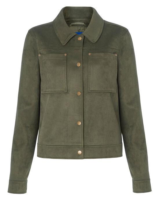 Suedette Utility Jacket