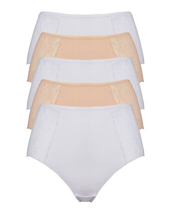 5 Pack Lace Overlay Full Brief