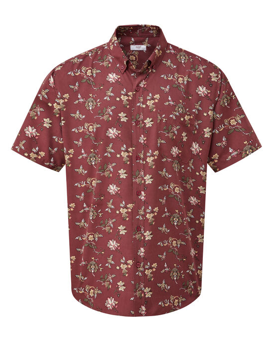 Floral Print Short Sleeve Soft Touch Shirt