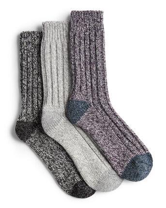 3 Pack Wool-Blend Walking Socks