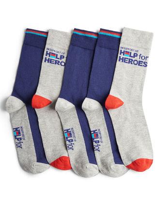 Pack of 5 Help For Heroes Socks