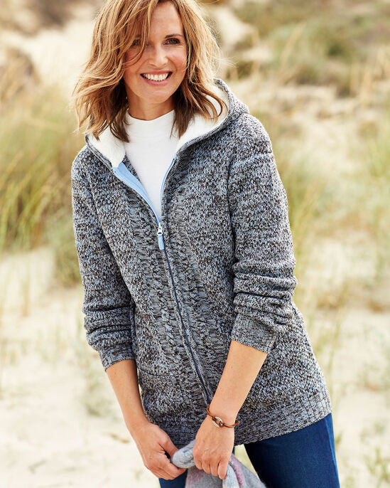 Fleece Hooded Cardigan