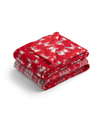 Pack of 2 Christmas Design Fleece Throws