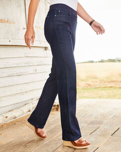 Premium Pull-on Rib Waist Jeans (Denim)