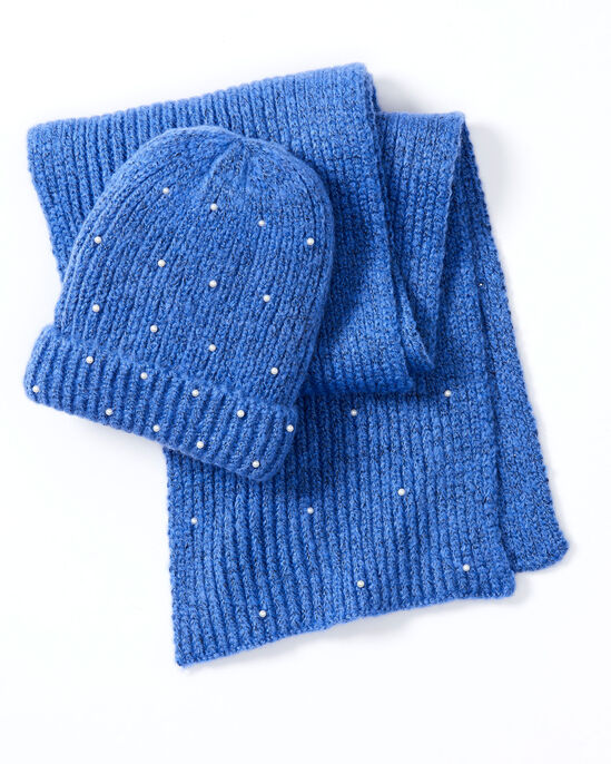 Pearl Hat and Glove Set