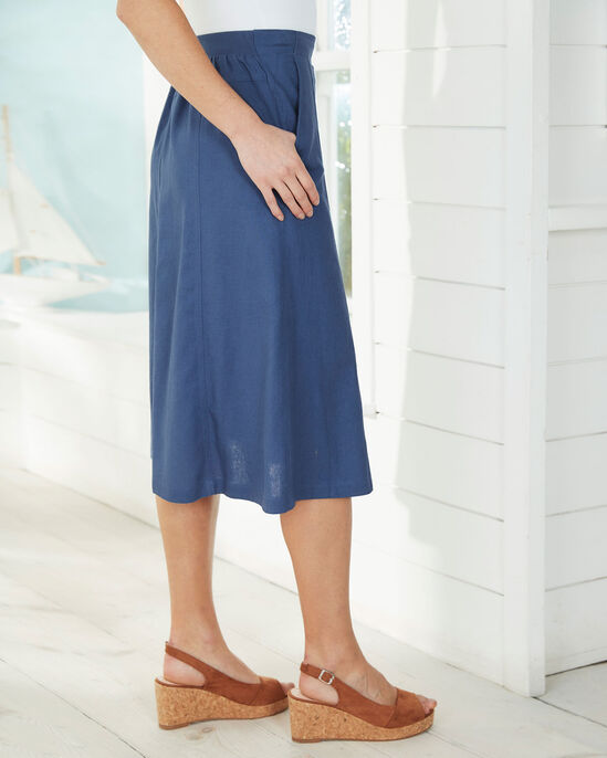 Linen-blend Pull-on Skirt