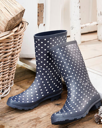 Mid Calf Wellington Boots