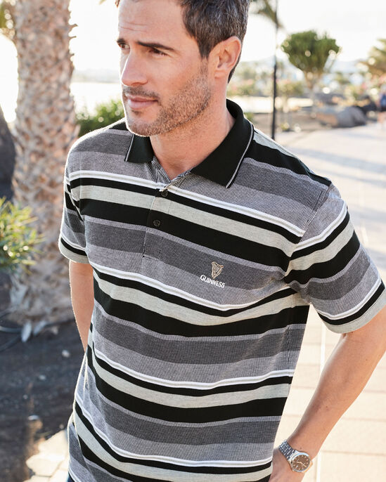 Guinness® Variated Stripe Polo Shirt