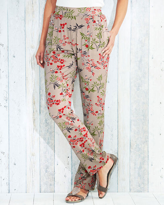 Jersey Print Trousers