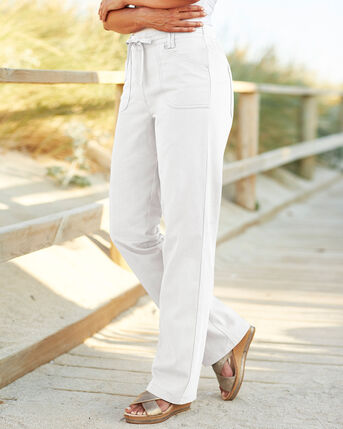 Wrinkle Free Pull-On Straight Leg Trousers