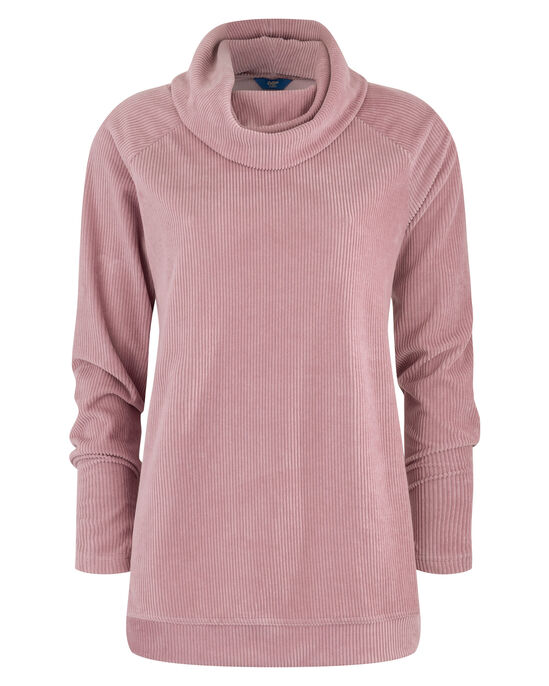 Supersoft Cord Cowl Neck Top