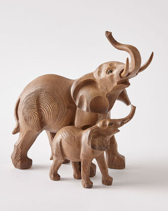 Elephant and Baby Ornament