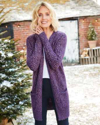 Fluffy Sequin Knitted Cardigan