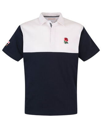 England Short Sleeve Cut & Sew Classic Rugby Shirt