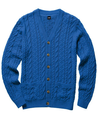 Cotton Cable Button Cardigan