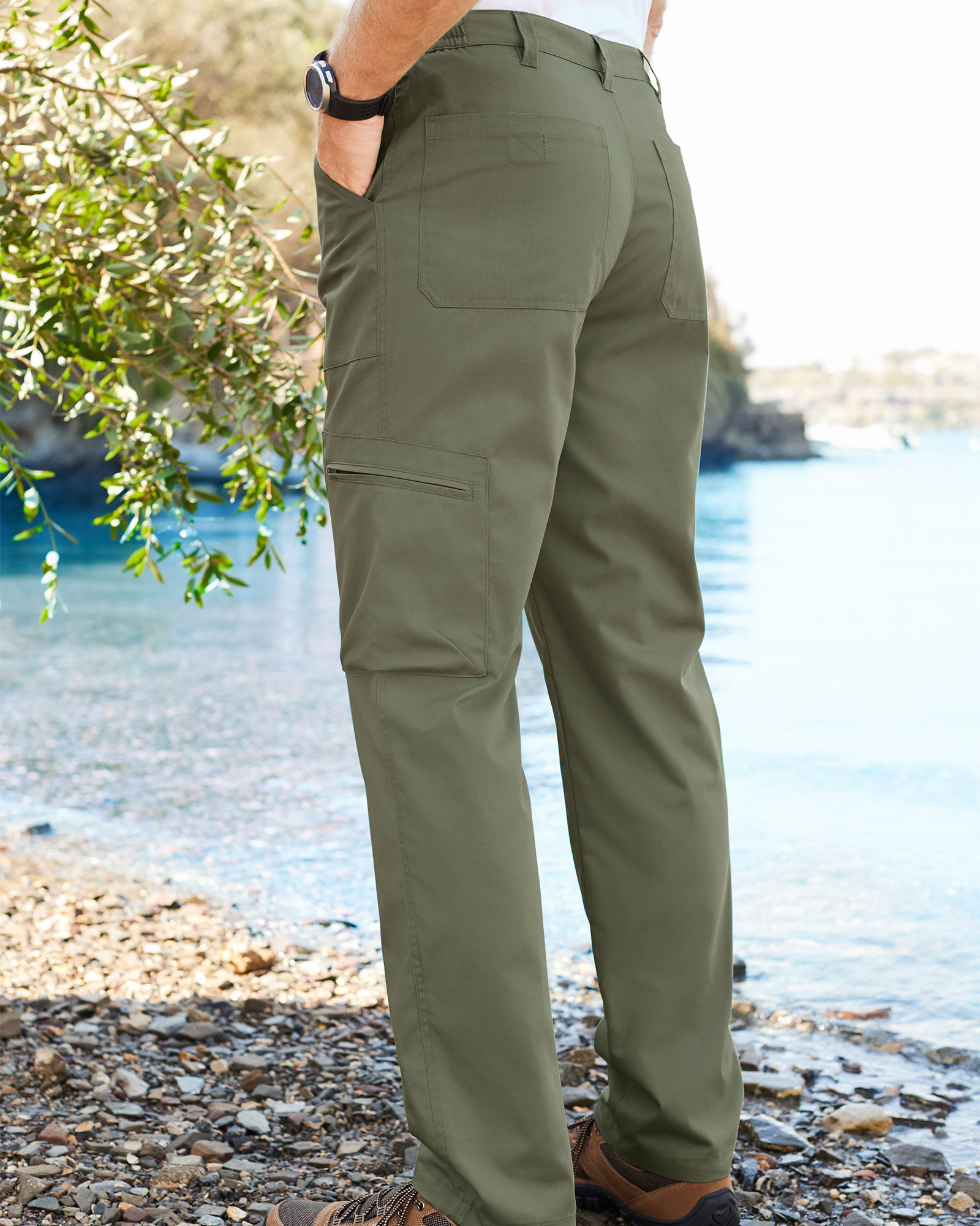 X-Feel Men/'s Cargo Trousers Slim Fit Stretch Chino Trousers 3 Colors
