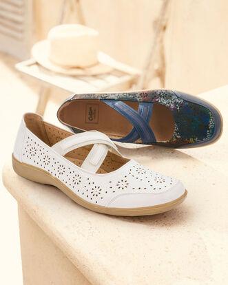 Flexisole Cross Over Strap Shoes