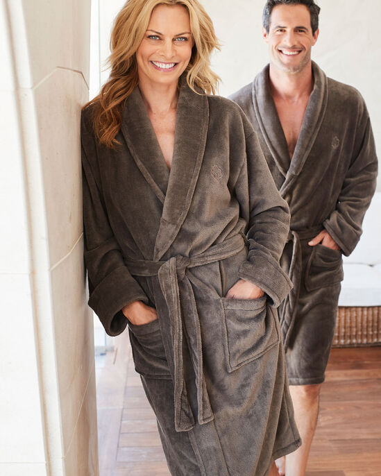 c6e8b0c587 Supersoft Fleece Dressing Gown at Cotton Traders
