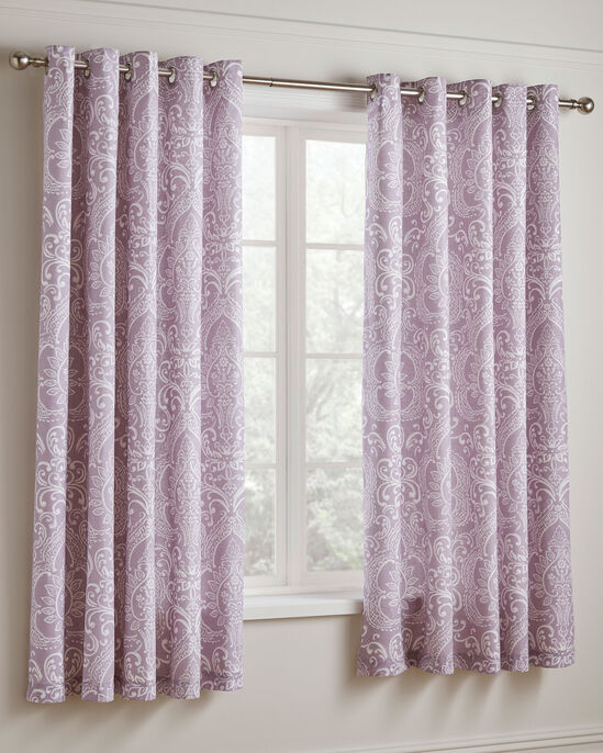 Rebecca Eyelet Curtains 66x72""