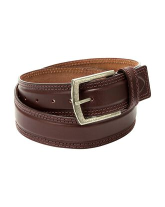 Tonal Stitched Leather Belt
