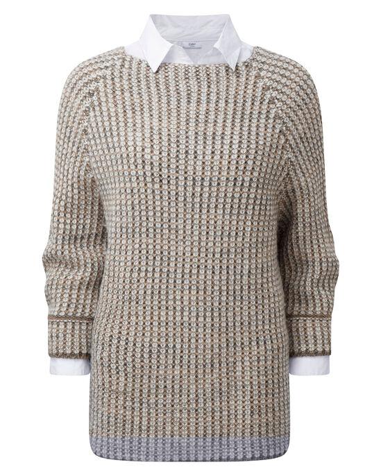 Textured Jumper & Shirt Set