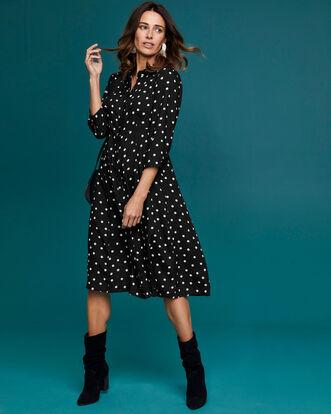 Button-through Printed Dress
