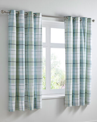 Carrington Eyelet Curtains 66x72""