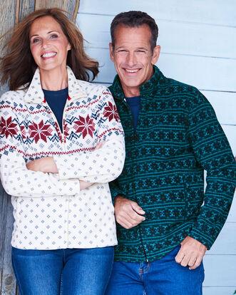 Patterned Fleece Jacket