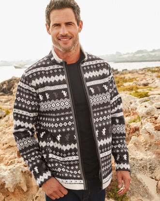 Guinness Fair Isle Fleece Jacket