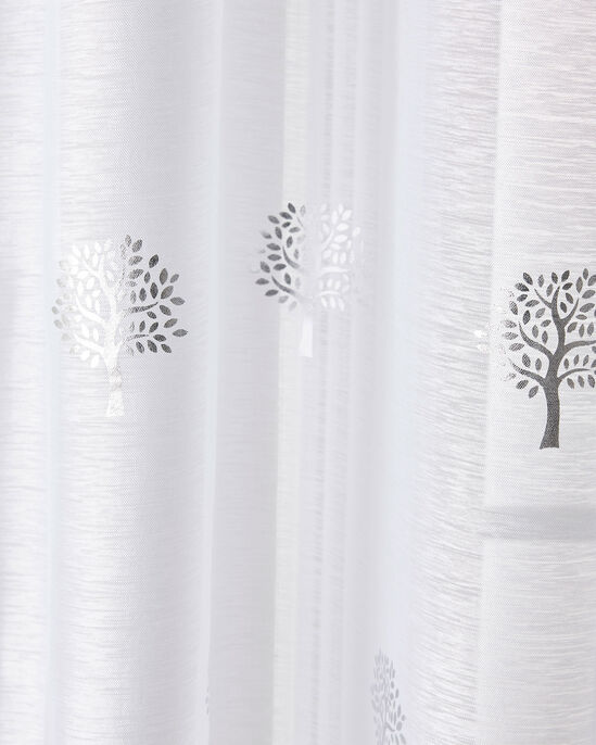 "Tree Print Voile (Pair) 55X48"""