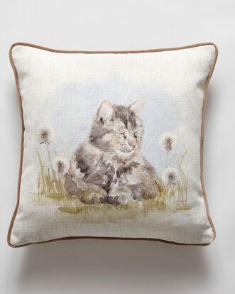 Watercolour Kitten Cushion