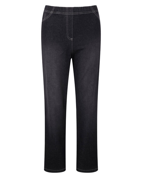 Pull-on Stretch Slim Bootcut Trousers