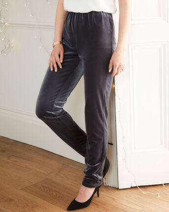 Luxury Velour Tapered Trousers
