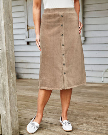 Jersey Pull-on Cord Skirt