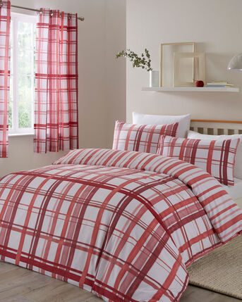 Watercolour Check Duvet Set