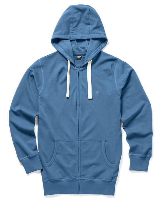 Loopback Zip-through Hooded Top