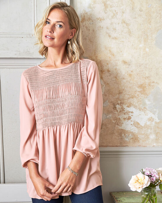 Eclectic Pleated Tunic Top