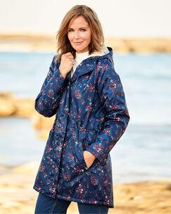 Waterproof Fleece Lined Print Parka