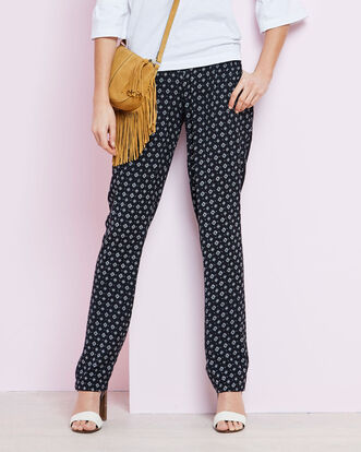 Geo Print Easywear Trousers