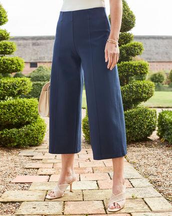 Wide Leg Crop Trousers