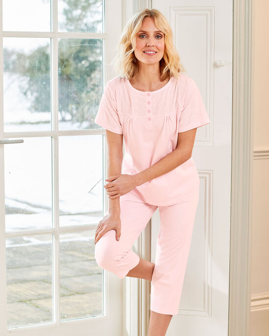 Broiderie Trim Pyjama Set