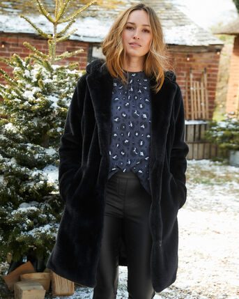 Heyworth Faux Fur Coat