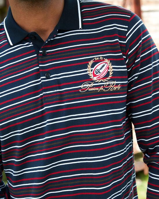 Long Sleeve Stripe Polo Shirt
