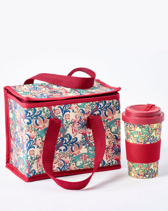 Golden Lily Travel Mug and Lunch Bag Set