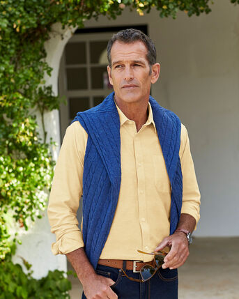 Long Sleeve Casual Oxford Shirt