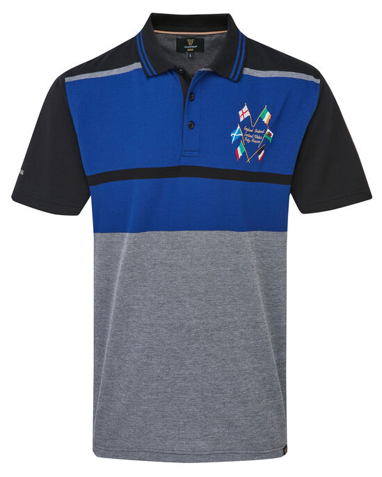 Guinness Six Nations Stripe Polo Shirt