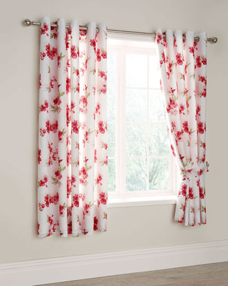 Blossom Eyelet Curtains 66x72""