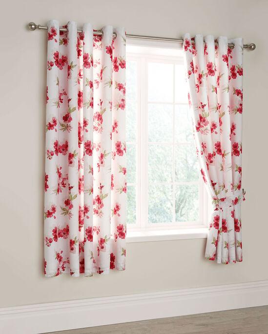 "Blossom Eyelet Curtains 66x72"""