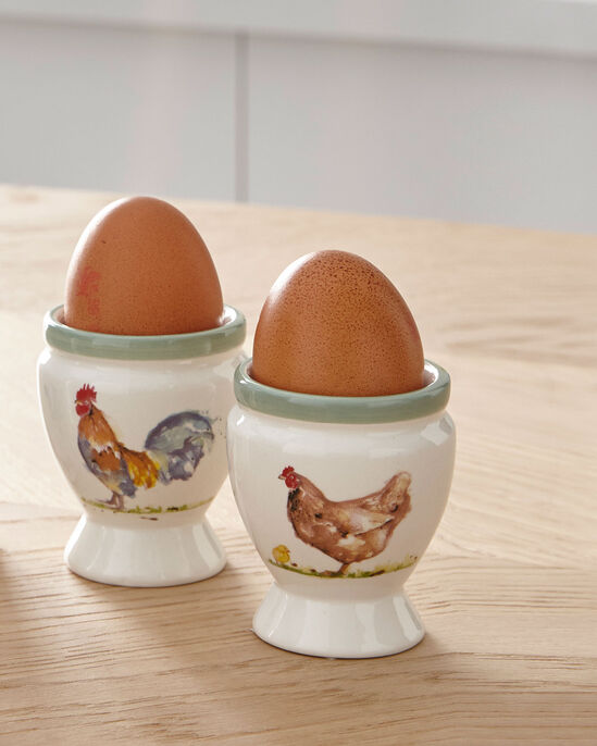 Pack of 2 Country Farm Egg Cups