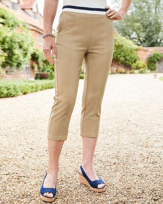 Ultra Stretch Seamed Crop Trousers